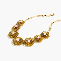 Zinnia crystal necklace