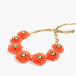 Zinnia crystal necklace