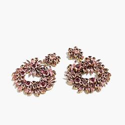 Crystal wreath earrings