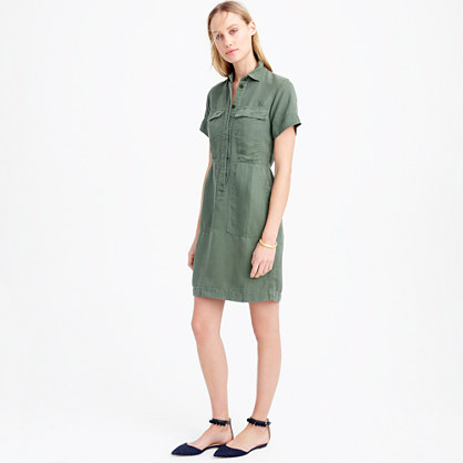 Short-sleeve cargo dress