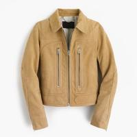 Collection suede flight jacket