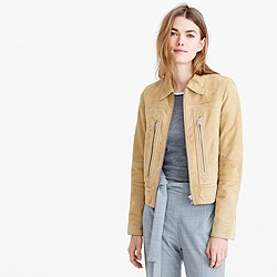 Collection suede flight jacket