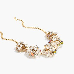 Jeweled geometric pearl necklace