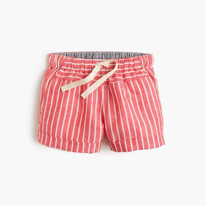 Girls' Breton-striped pull-on short