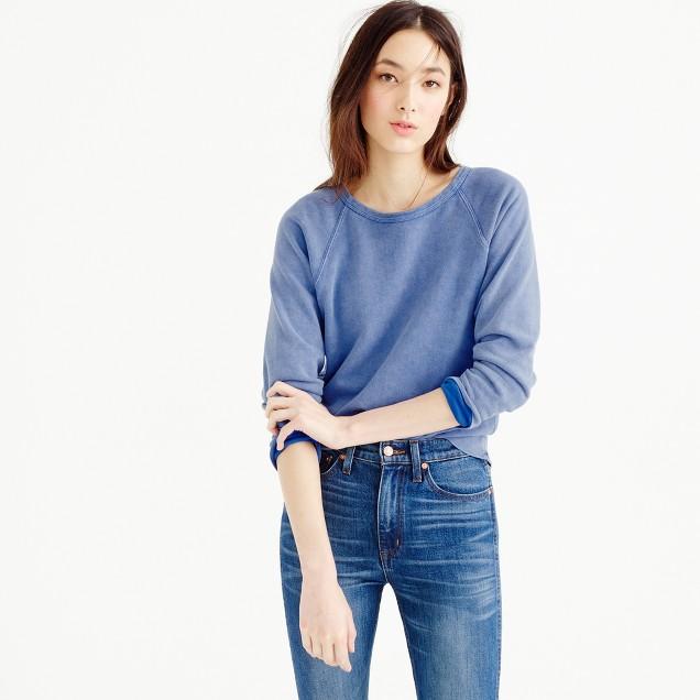 Raglan indigo sweatshirt