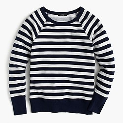 Raglan striped sweatshirt