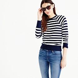 Raglan striped sweatshirt