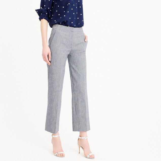 Patio pant in heavy chambray