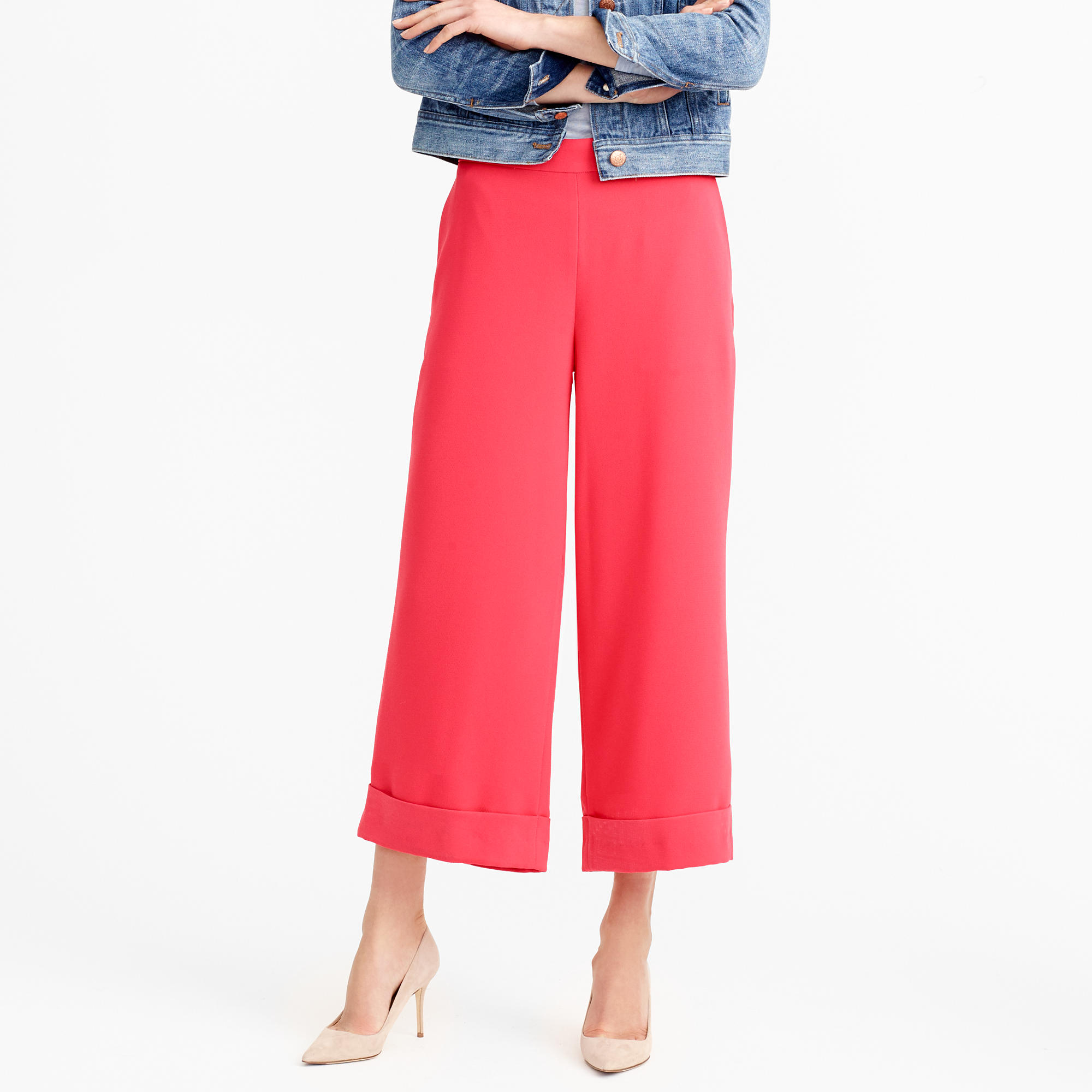 Cropped wide-leg pull-on pant : | J.Crew