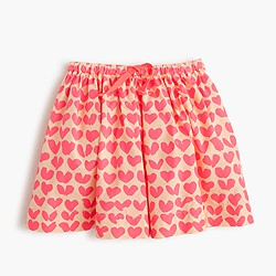 Girls' pull-on skirt in neon hearts