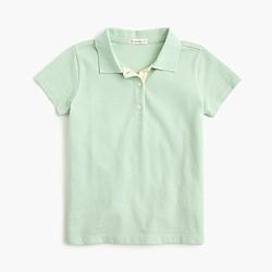Girls' piqué polo shirt