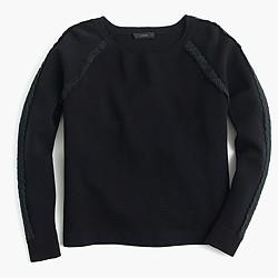 Scalloped crewneck sweater