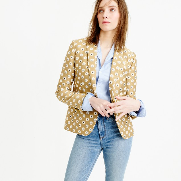 Campbell blazer in scattered daisy