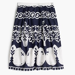 Midi skirt in ornate lace