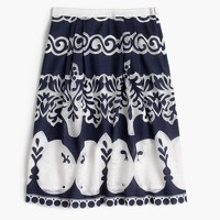 Petite midi skirt in ornate lace