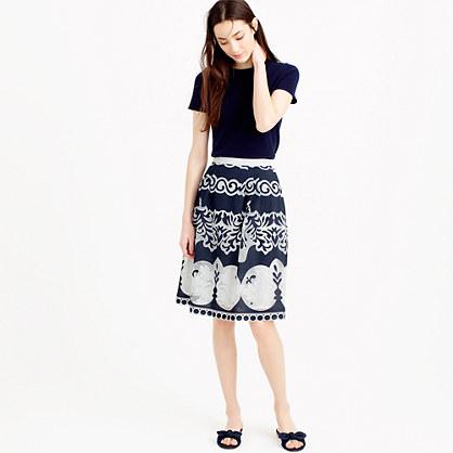 Midi skirt in ornate lace