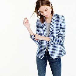 Petite Campbell blazer in gingham