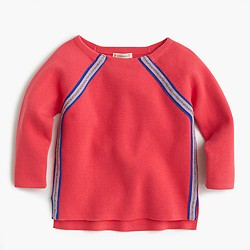 Girls' sparkle-striped sweater