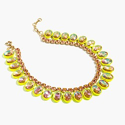 Layered crystal necklace in lemon