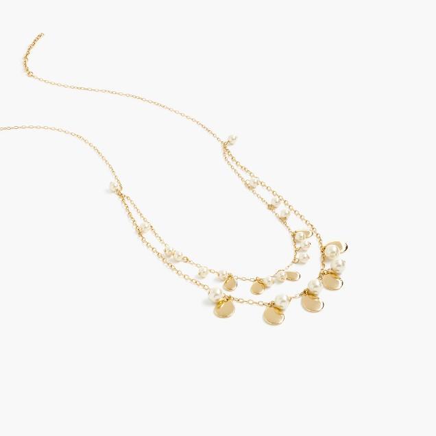 Pearl bead teardrop necklace