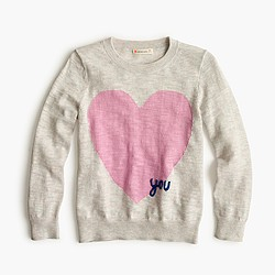 Girls' heart you popover sweater