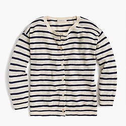 Girls' striped cardigan sweater