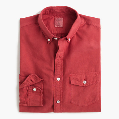 Tall lightweight garment-dyed oxford shirt