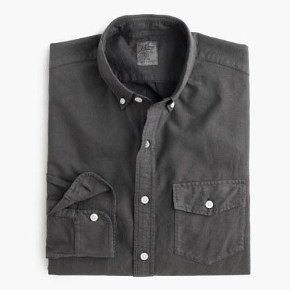 Tall lightweight garment-dyed oxford shirt