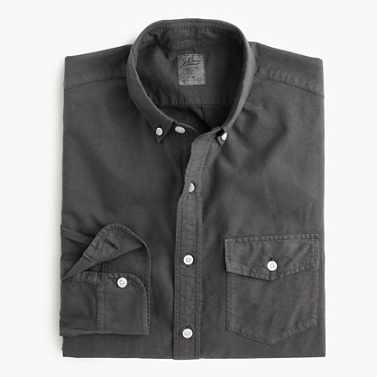 Slim lightweight garment-dyed oxford shirt