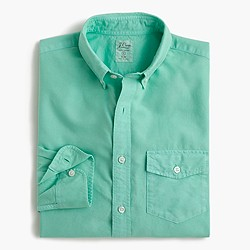 Slim lightweight garment-dyed oxford shirt