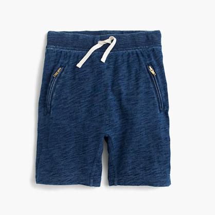 Girls' pull-on sweatshort with zips