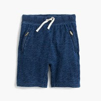 Girls' pull-on sweatshort with zips