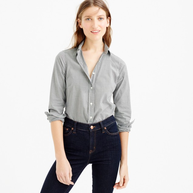 Petite perfect shirt in microgingham