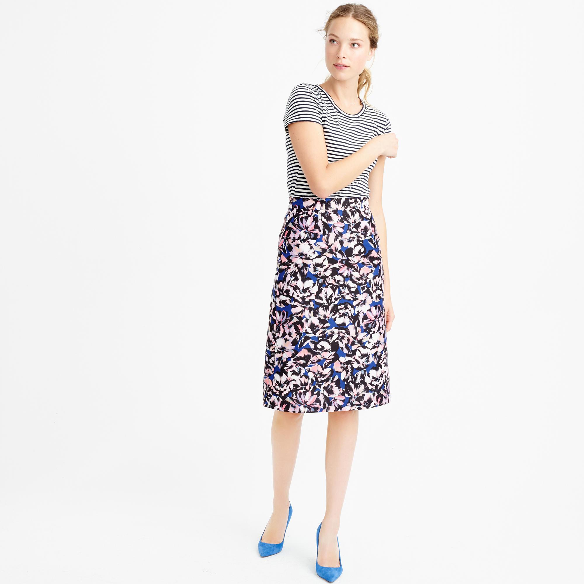 A-line skirt in hibiscus print : Women A-line/Midi | J.Crew