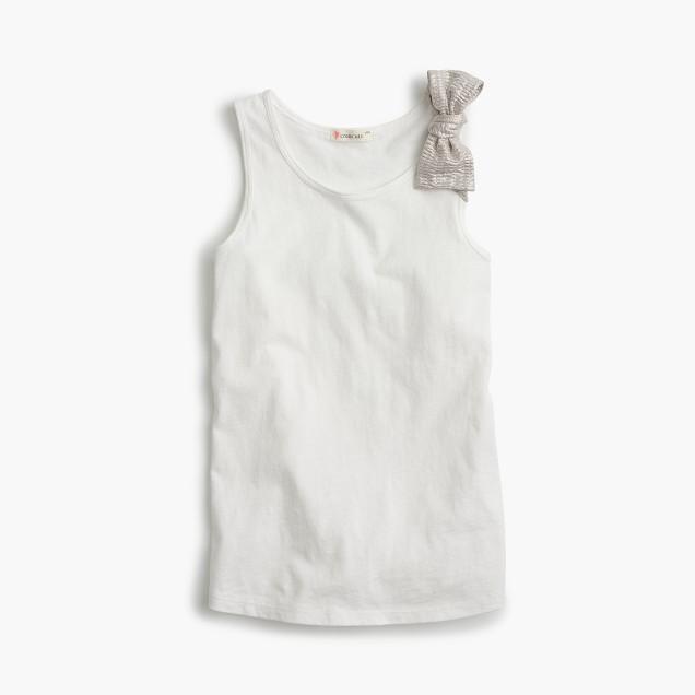 Girls' bow tank top