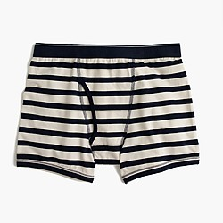 Navy-striped knit boxer briefs