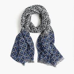 Woven fringe scarf