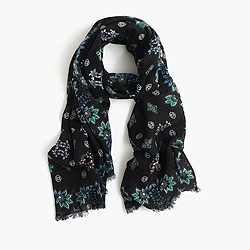 Mirrored floral scarf