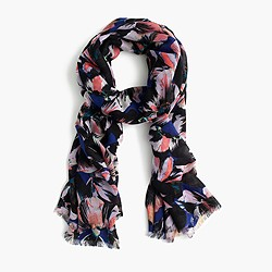 Hibiscus print scarf
