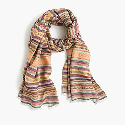 Patterned stripe scarf