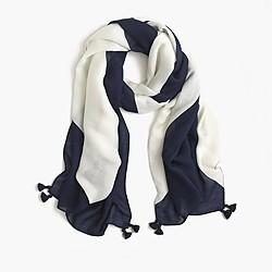 Oversized chevron scarf