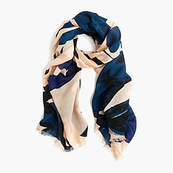Midnight bloom scarf
