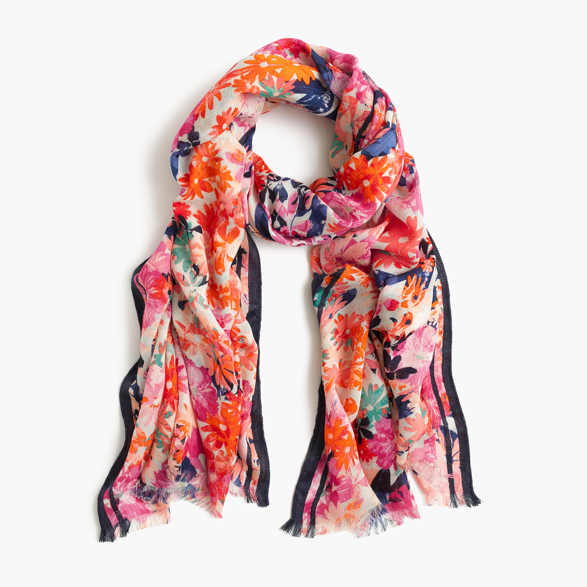 brushstroke marigold scarf j crew. Black Bedroom Furniture Sets. Home Design Ideas