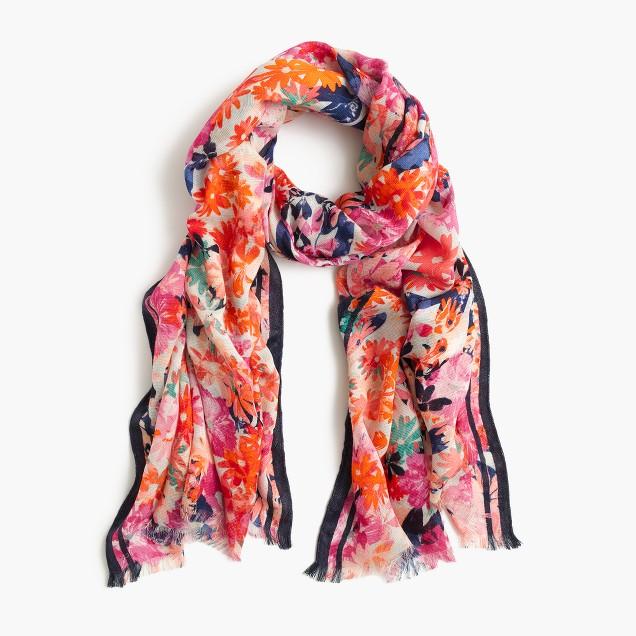 Brushstroke marigold scarf
