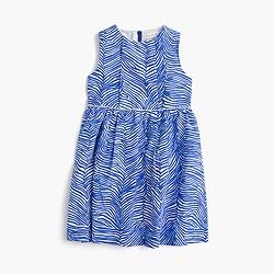 Girls' zebra-print dress