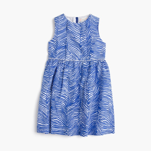 Girls' zebra-print dress