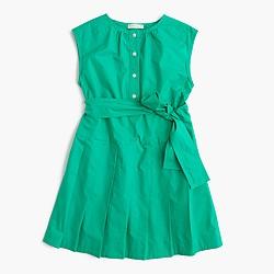 Girls' pleated shirtdress