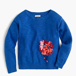 Girls' Max the Monster sequin popover sweater