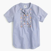 Collection Thomas Mason® for J.Crew embellished top