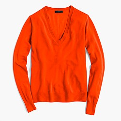Italian featherweight cashmere classic V-neck sweater